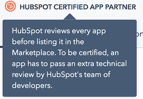 HubSpot Certified App Partner Expanded Banner
