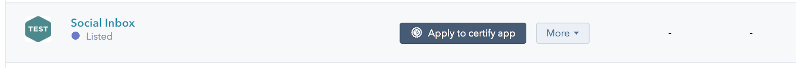 HubSpot Developer Portal Certification Application