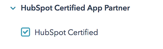 HubSpot Marketplace Certified Apps Filter