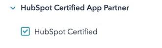 HubSpot Marketplace Certified Apps Filter