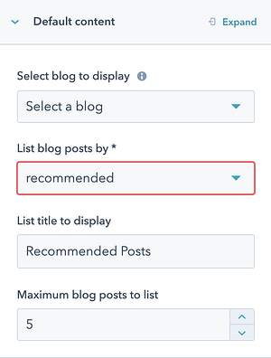 Recommended Option in Post Listing Module