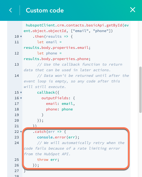 throw-error-in-custom-code-action