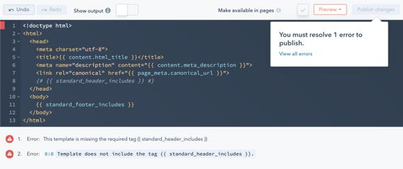 screenshot of a fatal error - design manager