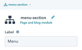 Module editor - label field