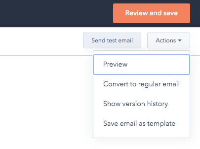 Screenshot Actions > Preview in page editor