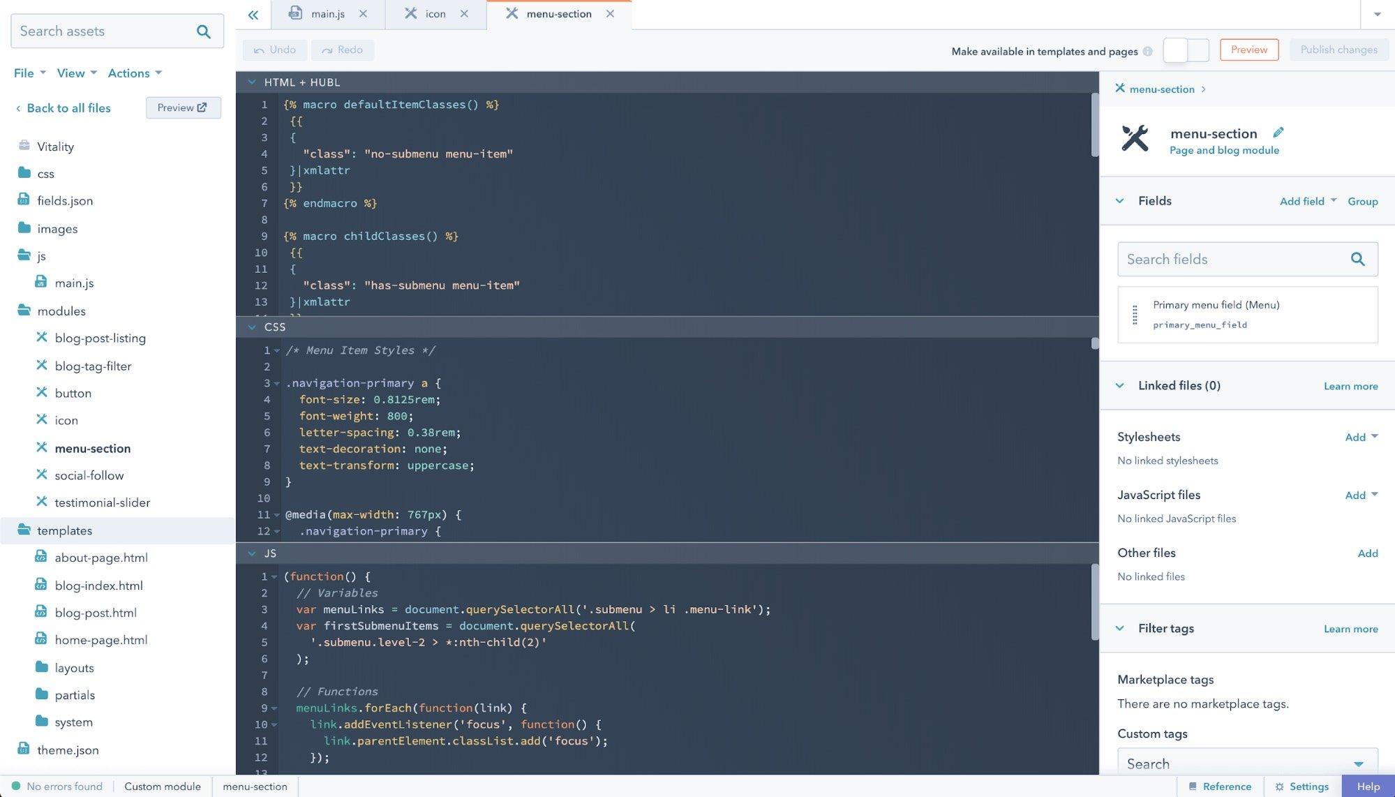 module editor