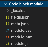 Module structure displayed locally